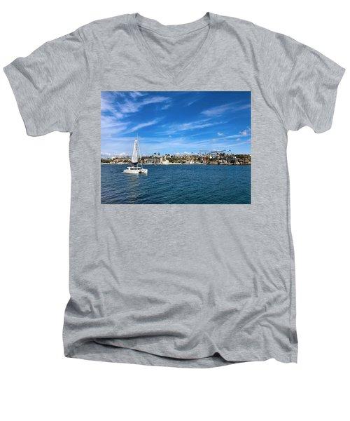 Harbor Sailing Men's V-Neck T-Shirt
