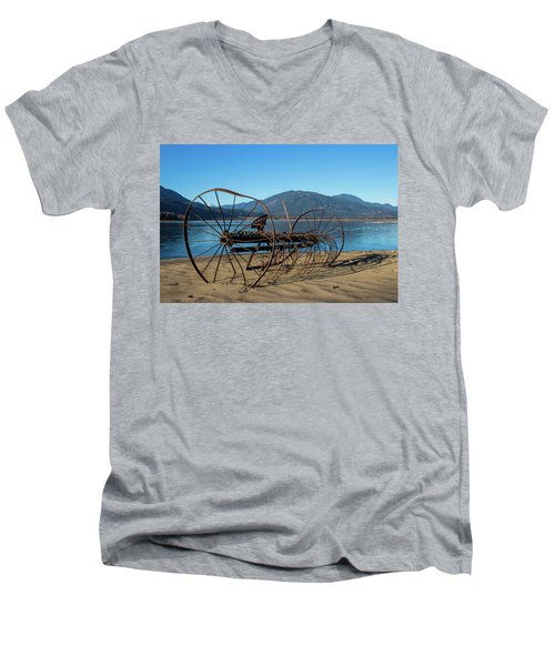 Harrison Lake Near Agassiz Men's V-Neck T-Shirt