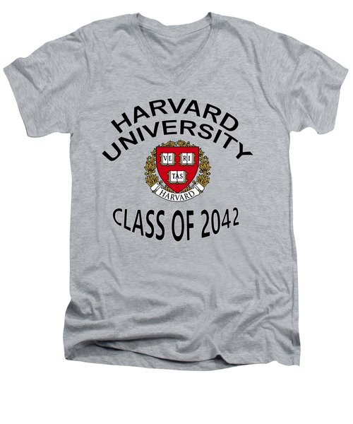 Harvard University Class Of 2042 Men's V-Neck T-Shirt