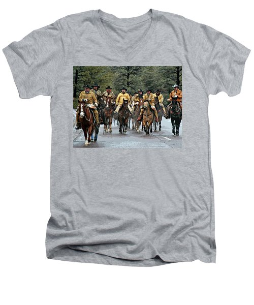 Hashknife Riders Men's V-Neck T-Shirt