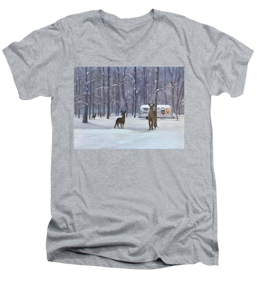 Have Yourself A Shiny Little Christmas Men's V-Neck T-Shirt