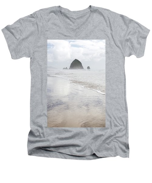 Haystack Rock Men's V-Neck T-Shirt