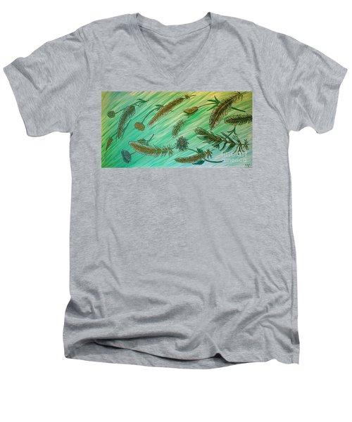 Healing Messages Men's V-Neck T-Shirt