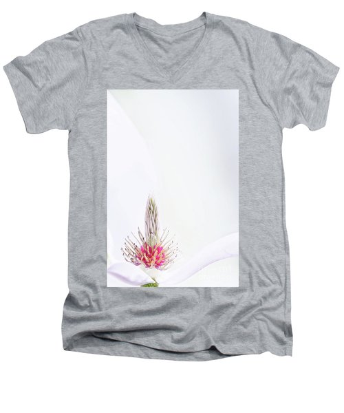 The Heart Of A Magnolia Men's V-Neck T-Shirt