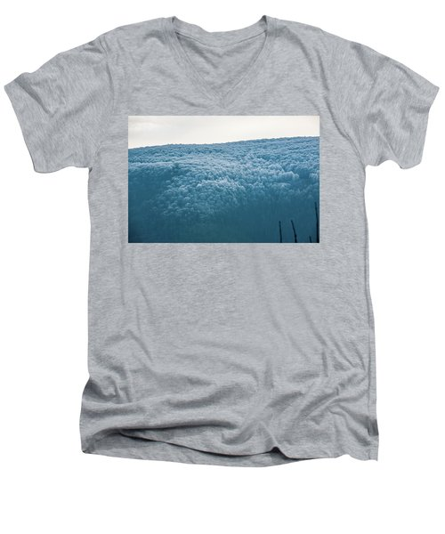 Hoarfrost Blue Mountain Men's V-Neck T-Shirt