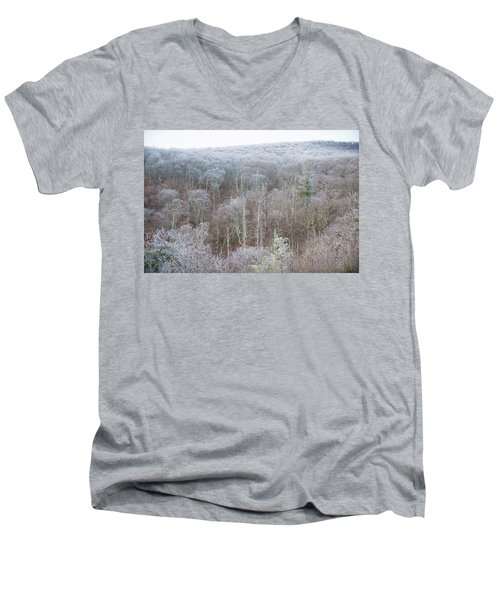 Hoarfrost In The Tree Tops Men's V-Neck T-Shirt