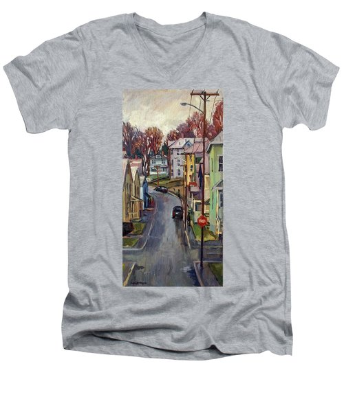 Holden Street Autumn Rain Men's V-Neck T-Shirt