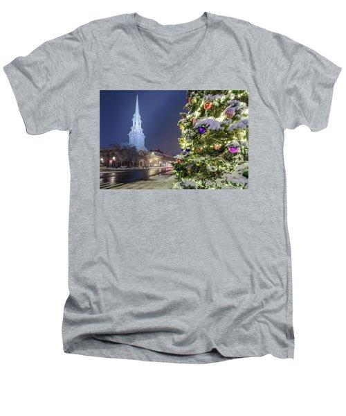 Holiday Snow, Market Square Men's V-Neck T-Shirt