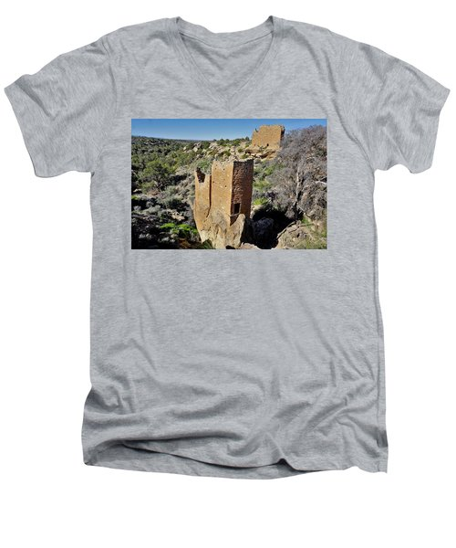 Holly Tower At Hovenweep Men's V-Neck T-Shirt