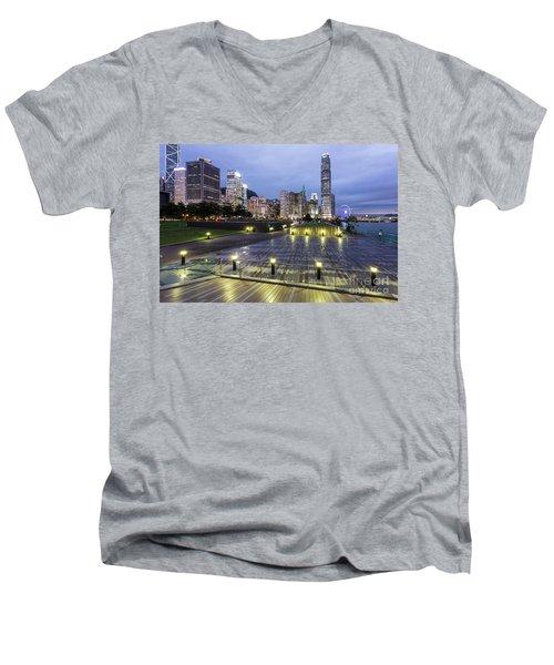 Hong Kong Twilight Men's V-Neck T-Shirt