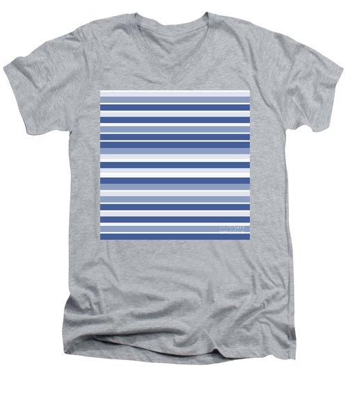 Horizontal Lines Background - Dde607 Men's V-Neck T-Shirt