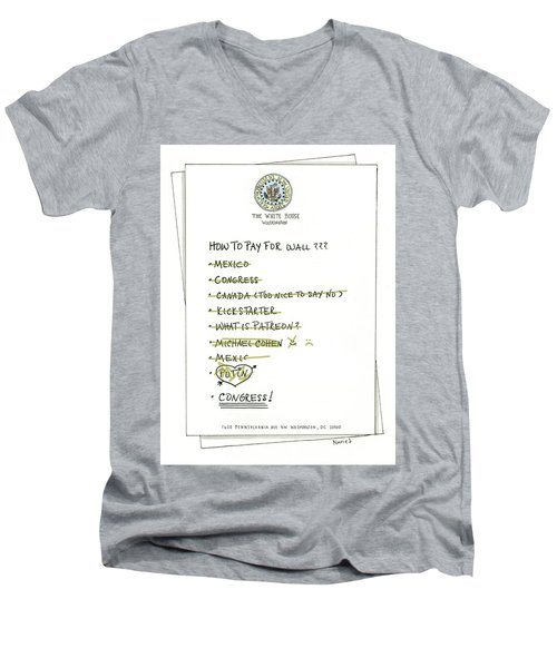 How To Pay For Wall  Men's V-Neck T-Shirt