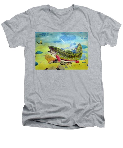Hungry Trout Men's V-Neck T-Shirt