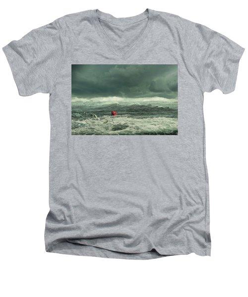 Hurricane Florence 2018 Men's V-Neck T-Shirt