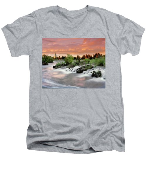 Idaho Falls Men's V-Neck T-Shirt