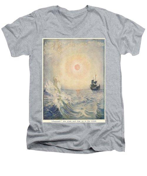 The Little Mermaid, Illustration From  Men's V-Neck T-Shirt