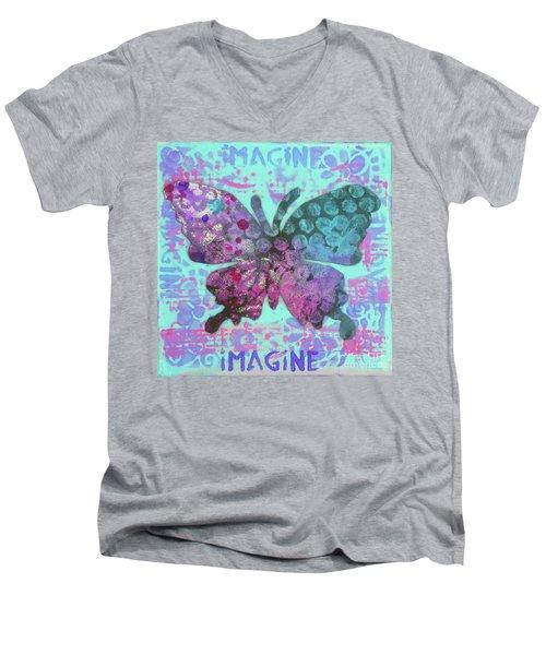 Imagine Butterfly 2 Men's V-Neck T-Shirt