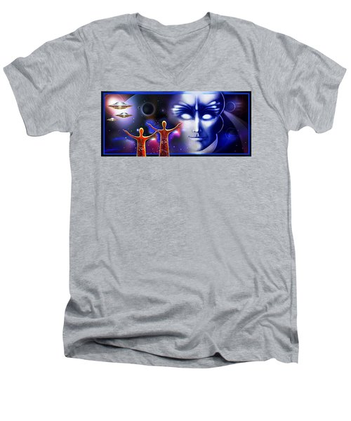 Imagine - What Is Out  There Men's V-Neck T-Shirt