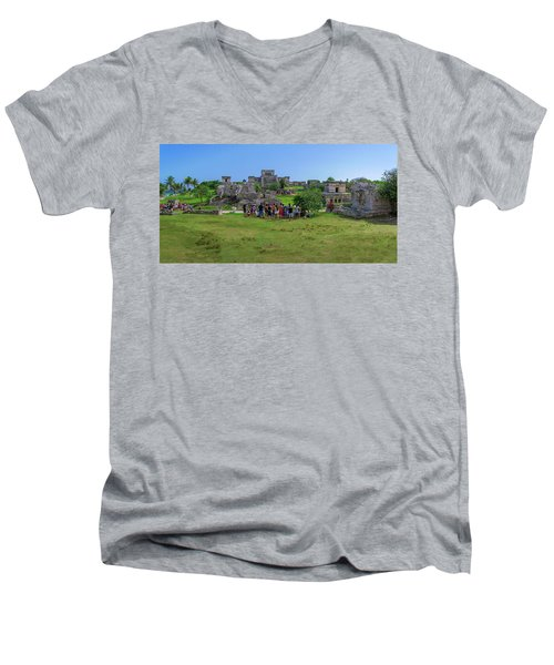 In The Footsteps Of The Maya Men's V-Neck T-Shirt