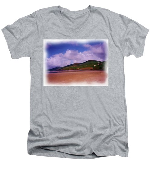 Inch Beach Painting Men's V-Neck T-Shirt