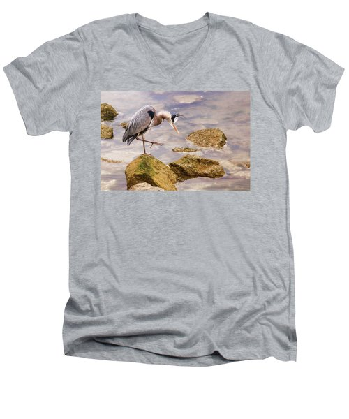 One Step At A Time Men's V-Neck T-Shirt