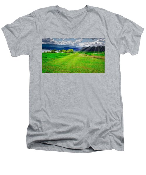 Inviting Airstrip Men's V-Neck T-Shirt