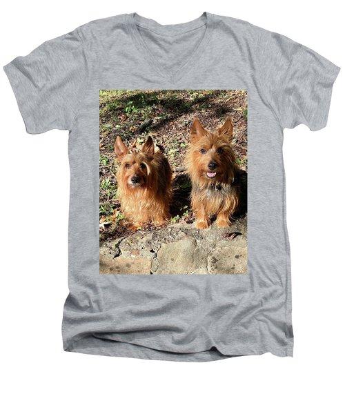 Jack And Lily 2 Men's V-Neck T-Shirt