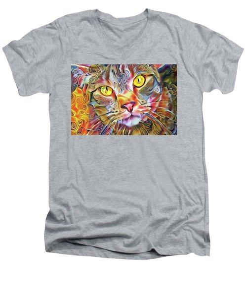 Jack The Tabby Cat Men's V-Neck T-Shirt