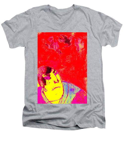 Japanese Pop Art Print 6 Men's V-Neck T-Shirt
