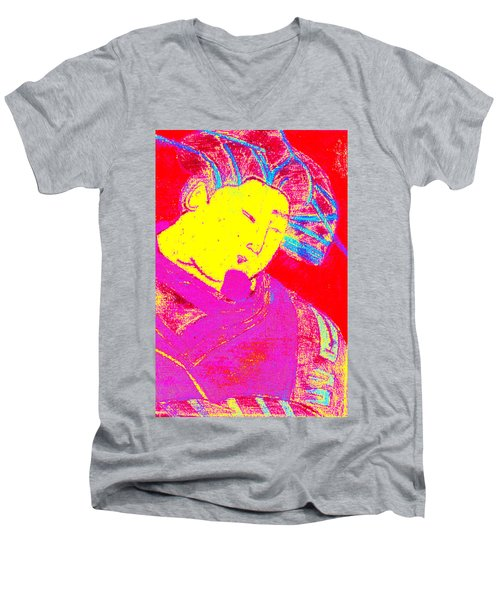 Japanese Pop Art Print 9 Men's V-Neck T-Shirt