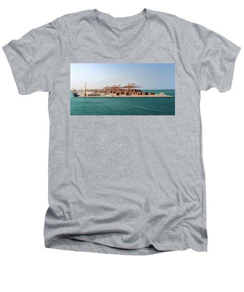 Jeddah Seaport Men's V-Neck T-Shirt