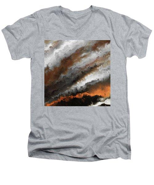 Jeremiah 20 9 Fire In My Heart Men's V-Neck T-Shirt