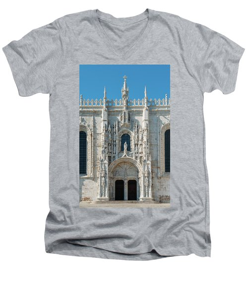 Jeronimos Monastery, Portugal Men's V-Neck T-Shirt