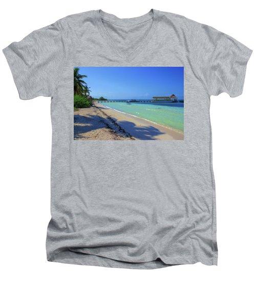 Jetty On Isla Contoy Men's V-Neck T-Shirt