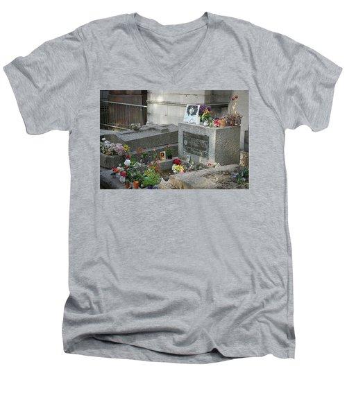 Jim Morrison's Grave Men's V-Neck T-Shirt