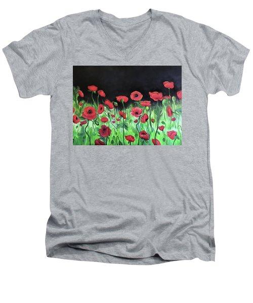 Jon's Poppies Men's V-Neck T-Shirt