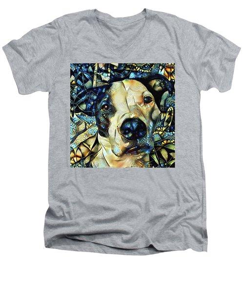 Joshua The Staffordshire Terrier Great Dane Cross Men's V-Neck T-Shirt