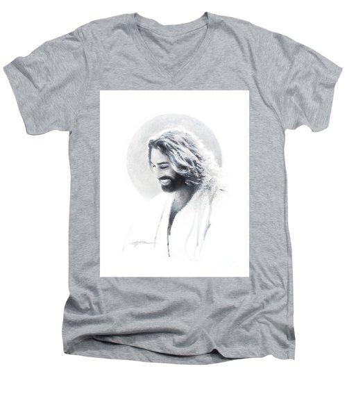 Joy Of The Lord Vignette Men's V-Neck T-Shirt