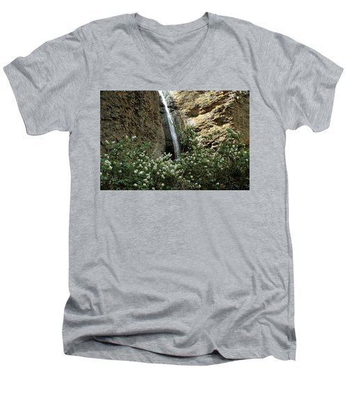 Jump Creek Falls Canyon Men's V-Neck T-Shirt