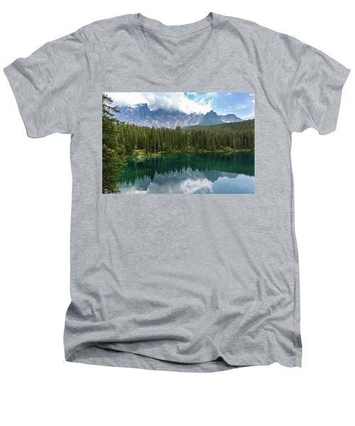 Karersee And Latemar Men's V-Neck T-Shirt