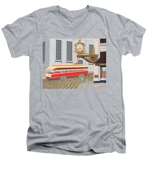 Kaufmann Clock Men's V-Neck T-Shirt