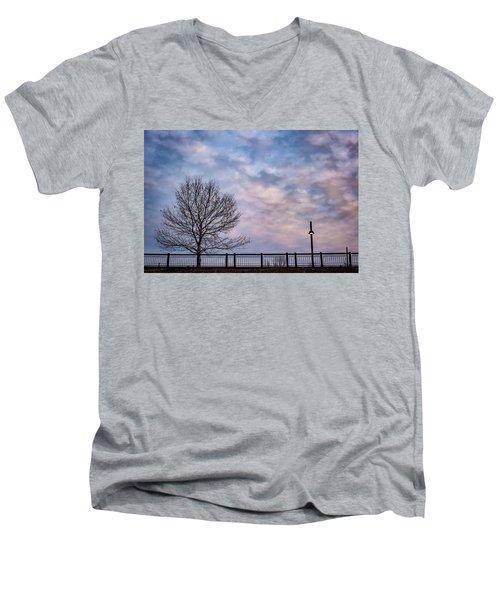 Kaw Point Silhouettes Men's V-Neck T-Shirt
