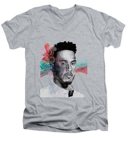 King Hammer - Tribute To Lewis Hamilton Men's V-Neck T-Shirt