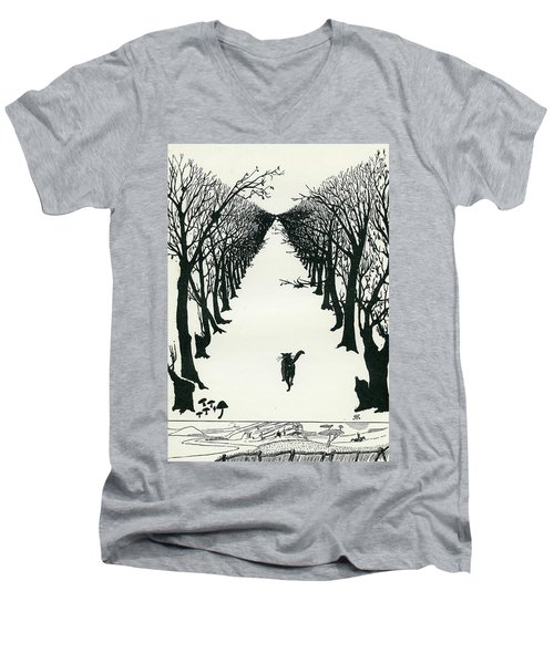 The Cat That Walked By Himself Men's V-Neck T-Shirt
