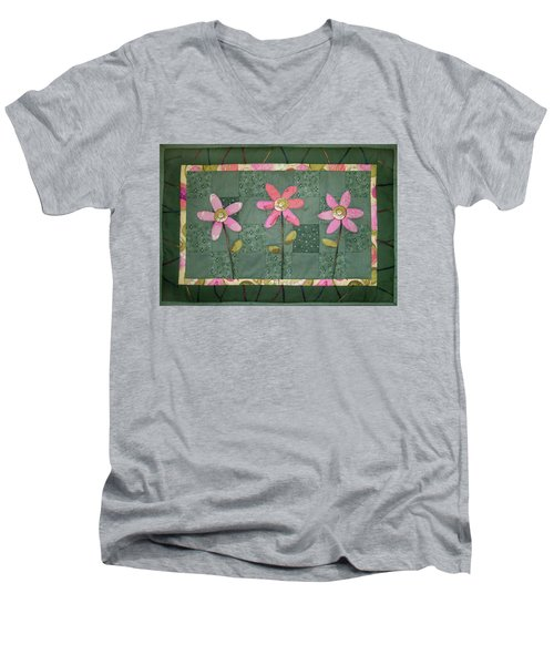 Kiwi Flowers Men's V-Neck T-Shirt
