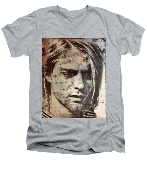 Kurt Cobain Men's V-Neck T-Shirt