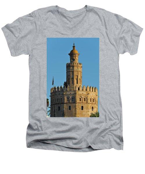 La Torre De Oro Detail. Seville Men's V-Neck T-Shirt