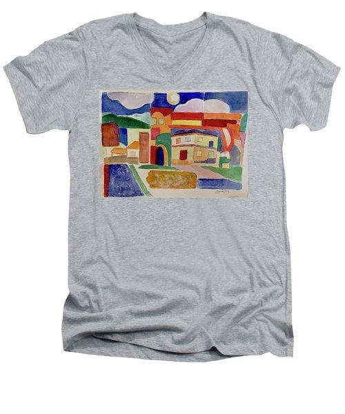 Laguna De Sol Arch Men's V-Neck T-Shirt