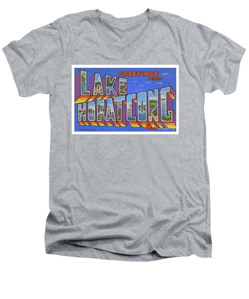 Lake Hopatcong Greetings Men's V-Neck T-Shirt