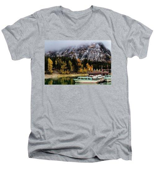 Lake Minnewanka, Banff National Park, Alberta, Canada Men's V-Neck T-Shirt